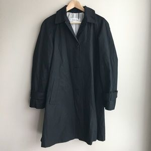 Calvin Klein Button Down Trench Jacket